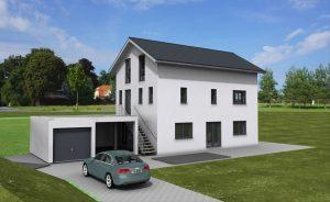 Einfamilienhaues mit Wohnkeller und einer Einliegerwohnung im Untergeschoß Rottenburg